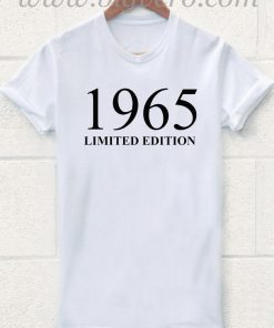 1965 Limited Edition 50th Birthday T Shirt
