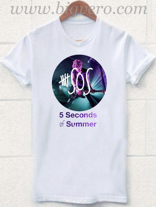 5 Seconds Of Summer Design Costum T Shirt