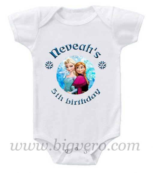 5th Birthday neveah's Baby Onesie