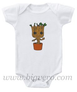 Baby Groot Guardians of the Galaxy Baby Onesie