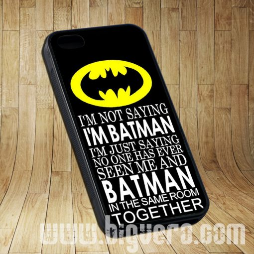 Batman Quote In Same Room Cases iPhone, iPod, Samsung Galaxy