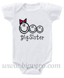 Big Sis of Three Baby Onesie
