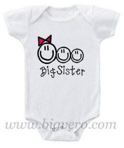 Big Sis of Three Baby Onesie