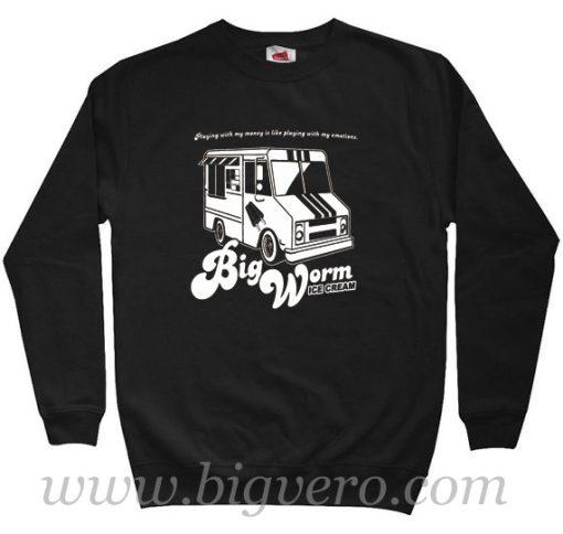Big Worm Friday Ice Cream Truck Sweatshirt Size S XXL
