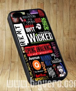 Broadway Musical Collage Cases iPhone, iPod, Samsung Galaxy