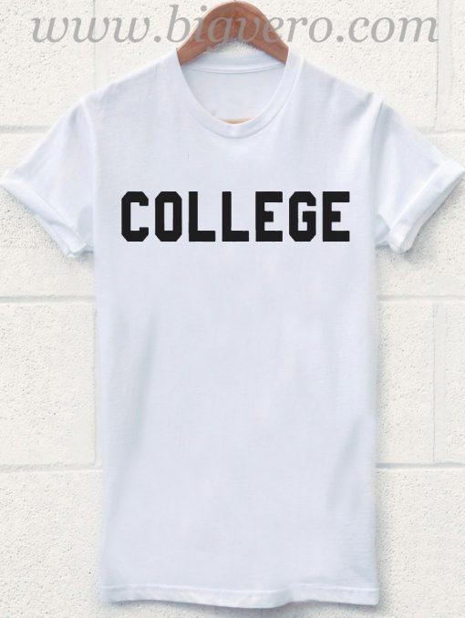 COLLEGE Simple Desain T Shirt
