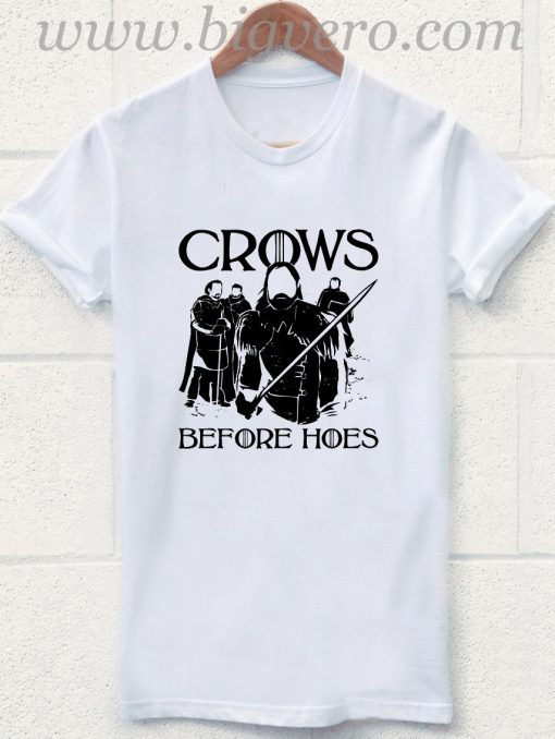 Crows Before Hoes Army T Shirt