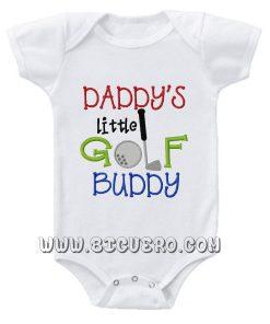 Daddy's Golf Buddy Baby Onesie