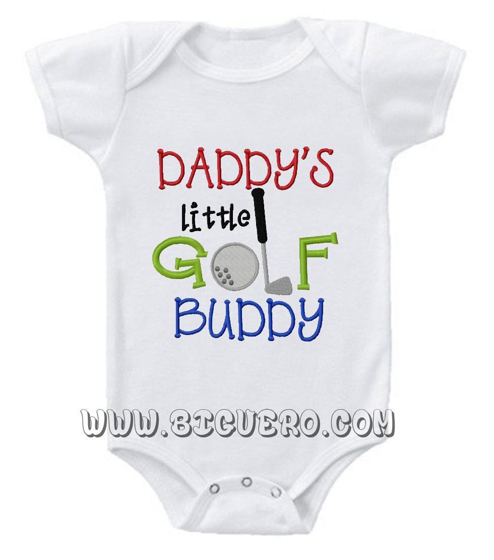 Daddy's Golf Buddy Baby Onesie | Cool Tshirt Designs ...