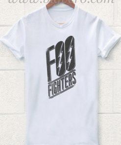 Foo Fighters Slanted Logo T Shirt