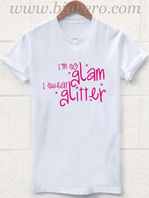 I Sweat Glitter T Shirt