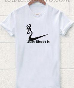 Just Shoot It Nike Deer Head T Shirt
