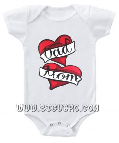 Mom And Dad Baby Onesie