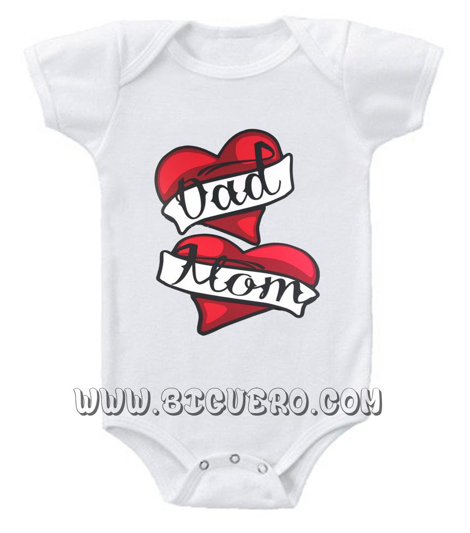 Mom And Dad Baby Onesie | Cool Tshirt Designs - Bigvero.com