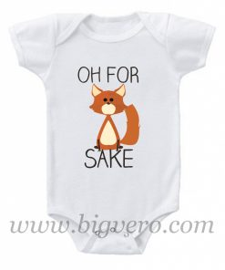 Oh, For Fox Sake Baby Onesie