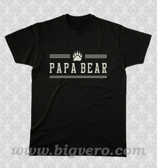 Papa Bear Dad Father T Shirt