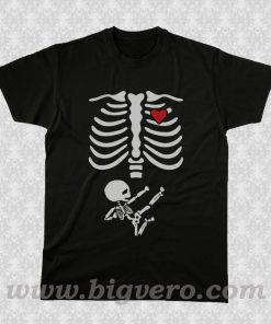 Pregnant Skeleton 2 T Shirt