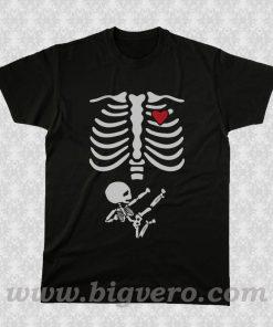 Pregnant Skeleton 2 T Shirt