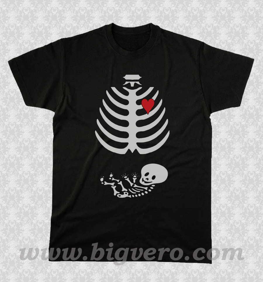Pregnant Skeleton T Shirt Unique Fashion Store Design Big Vero