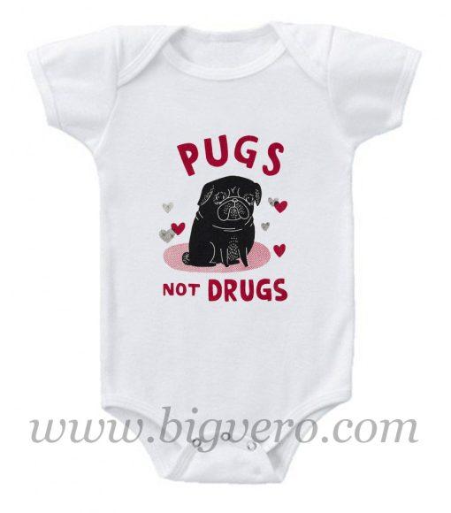 Pug not Drugs Baby Onesie