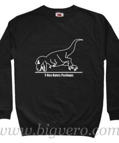 T Rex Hates Christmas Sweatshirt Size S-XXL