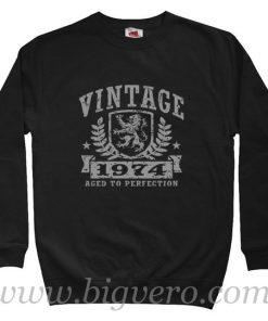 Vintage 1974 Birthday Sweatshirt Size S-XXL
