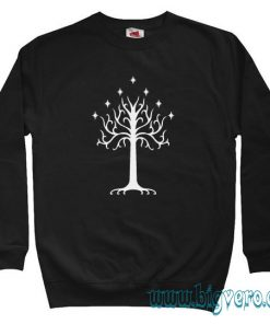 White Tree of Gondor LOTR Sweatshirt Size S-XXL