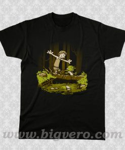 Luke and Yoda Calvin and Hobbes T Shirt