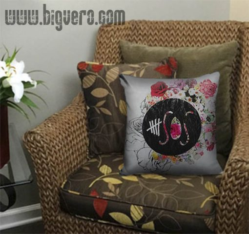 5Seconds of Summer Flower Logo Pillow Cover