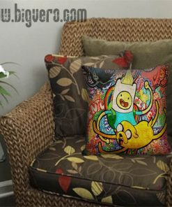 Adventure Time Jack And Finn Painting Art Pillow Cover