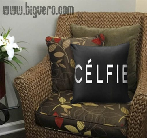 Black Celfie Pillow Cover