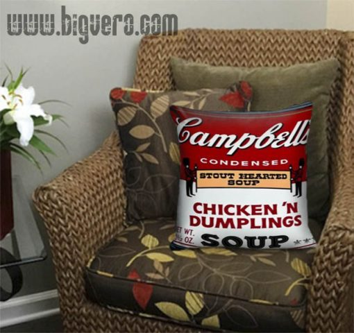Warhol Chicken Dumplings Can Pillow Cover