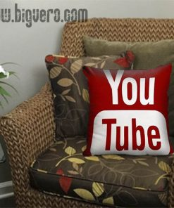 Youtube Icon Social Media Pillow Cover