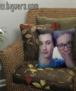 tyler oakley and troye sivan Pillow Cover