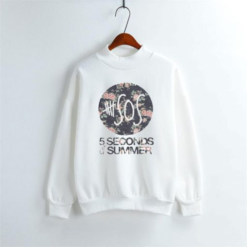 5 Seconds Of Summer Flowers Sweatshirt Size S XXL