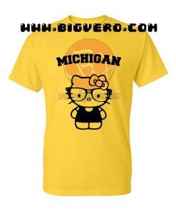 Michigan Hello Kitty Yellow T Shirt