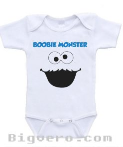 Boobie Monster Funny Cute Baby Onesie