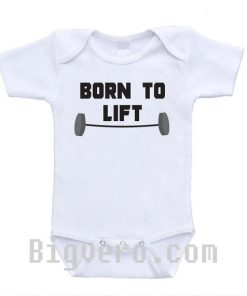 Born to Lift Baby Onesie