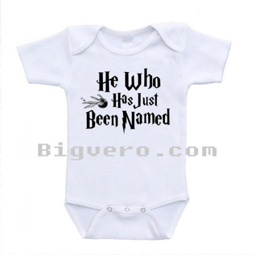 He Who Has Just Been Named Harry Potter Parody Baby Onesie
