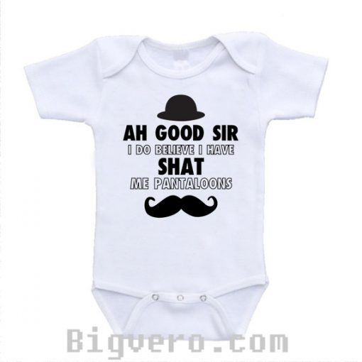 ah good sir pantaloons baby onesie