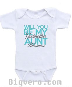 Will You Be My Godmother Aunt baby onesie