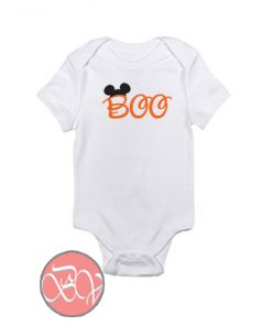 BOO with Disney Mickey Ears Baby Onesie