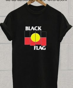 Black Flag X Aboriginal Flag Tshirt