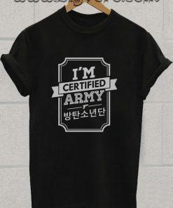 Certified BTS ARMY Tshirt