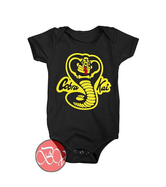 43bf30cac Cobra Kai Expect No Mercy Baby Onesie | Cool Baby Onesie Designs -  Bigvero.com