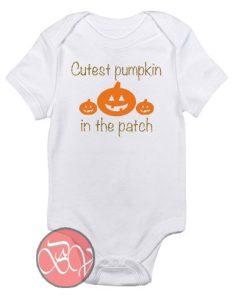 Cutest Pumpkin In The Patch Baby Onesie