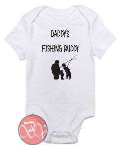 Daddy's Fishing Buddy Baby Onesie