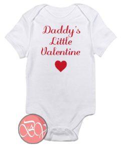 Daddy's Little Valentine Baby Onesie