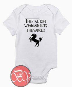 Game of thrones Stallion Baby Onesie
