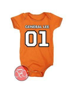 General Lee Retro Baby Onesie